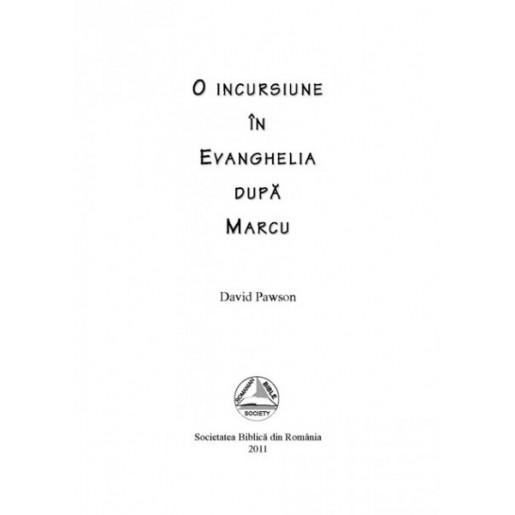 O incursiune in Evanghelia dupa Marcu