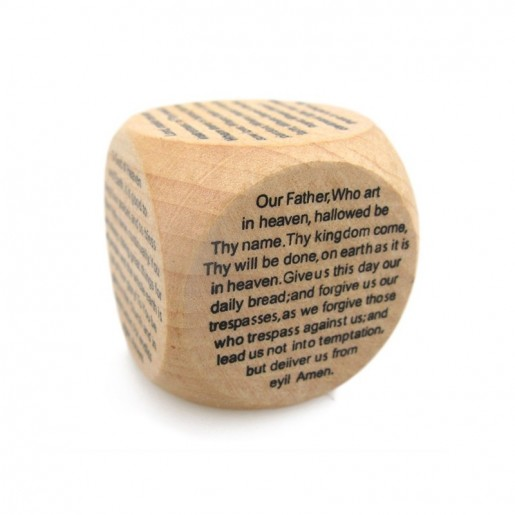 Cub lemn cu scris