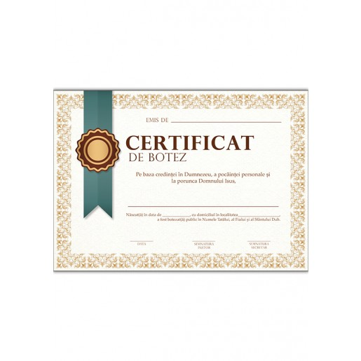 Certificat de botez #1