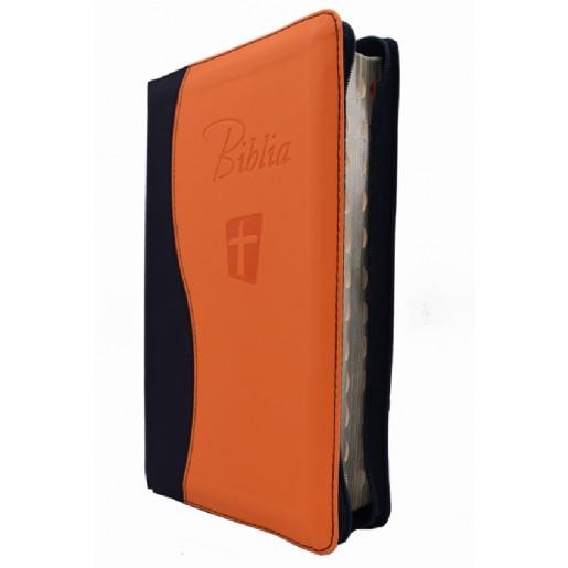 Biblia NTR portocaliu-bleumarin ed.III-a revizuita