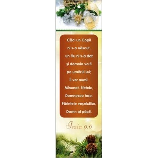 Semn de carte 21C - Isaia 9:6