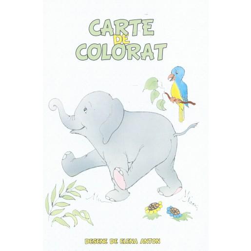 Elefănțelul- Carte de colorat
