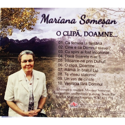 CD Mariana Somesan - O clipa, Doamne..