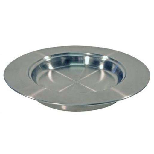 Farfurie argintie din inox pentru impartasanie
