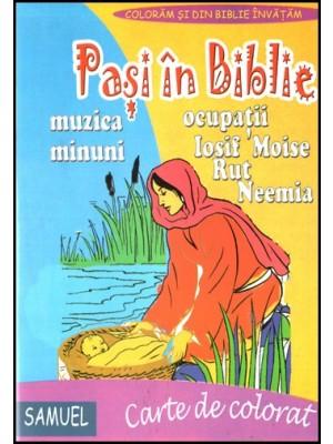 Pasi in Biblie - carte de colorat
