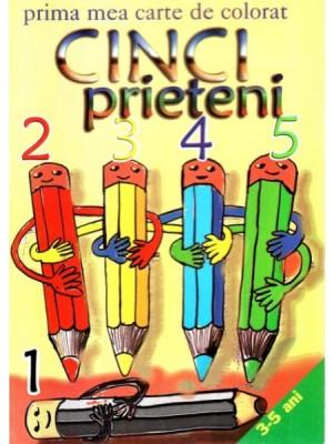 Cinci prieteni - carte de colorat