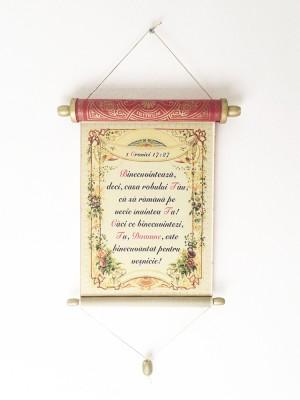 Pergament cu versete din Vechiul Testament