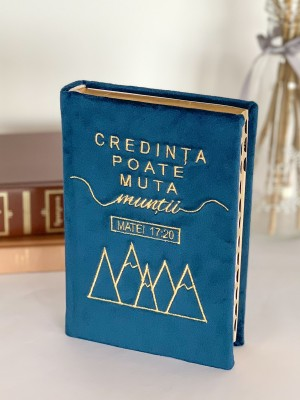 Biblie handmade 057 - albastru