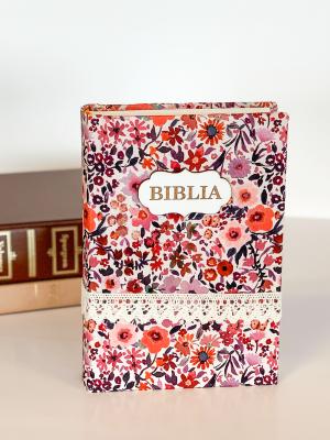 Biblie handmade  053 - floral cu dantela