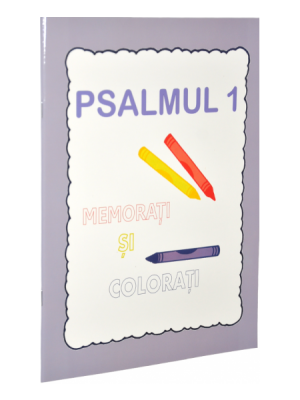 Psalmul 1. Memorati si colorati