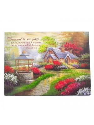 Tablou cu peisaj și verset (40 cm)