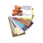 Set 8 carduri cu ursulet