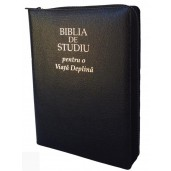 Biblia de studiu pentru o viață deplină - ediție cu piele și fermoar
