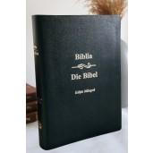 Biblie bilingva Romana-Germana neagra, coperta piele