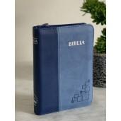 Biblie mica, de lux, mov/roz/albastru